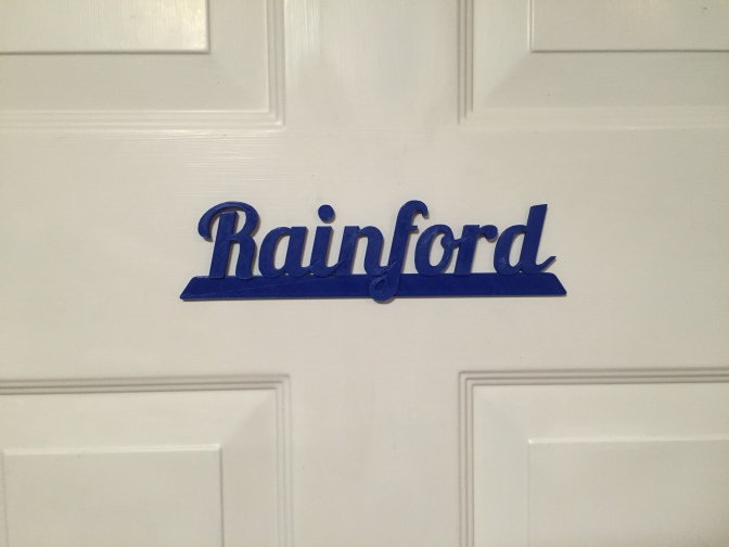 Retro Rainford Sign
