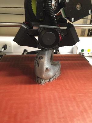 Printing the Ecto-1 Hood Ornament with supports
