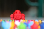 Wow, thats a lot of little maker faire robots. Why are they running away?