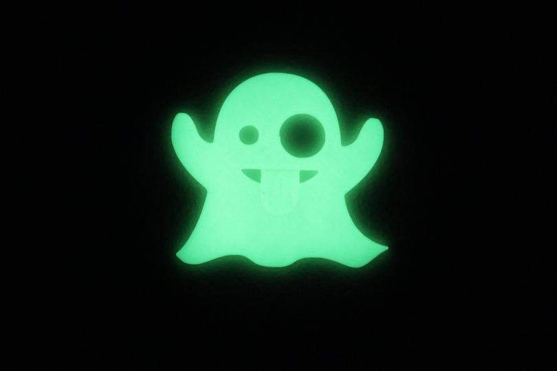 Emoji Ghost in glow in the dark PLA