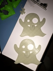 Emoji Ghosts in glow in the dark PLA