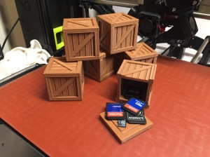 These crates work great for background props and SD card storage.