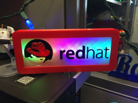 Redhat Logo Sign Animated Rainbow Color