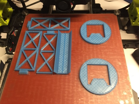 Printing a single set of the original bridge superstructure along with the aligners/clamps