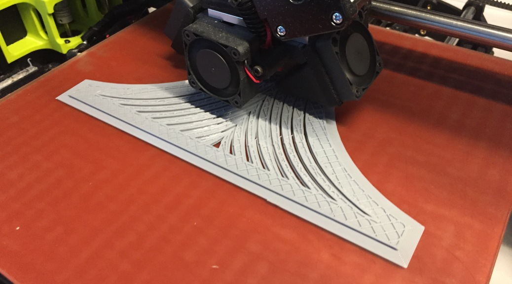 Printing a side of the base