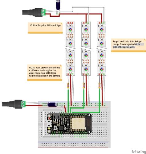 Circuit Diagram for my LED Bridge Lamp