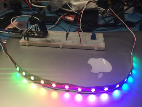 Testing the bridge section LEDs